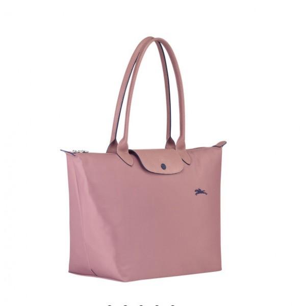 Antique Pink Cheap Longchamp Le Pliage Club Shoulder Bag L with  Pliage/Nylon Material sale