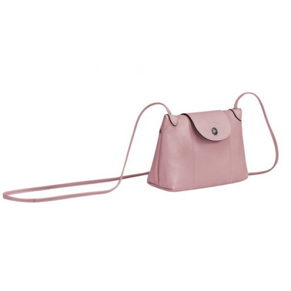Antique Pink sale Longchamp Le Pliage Cuir Crossbody Bag with Leather  Material