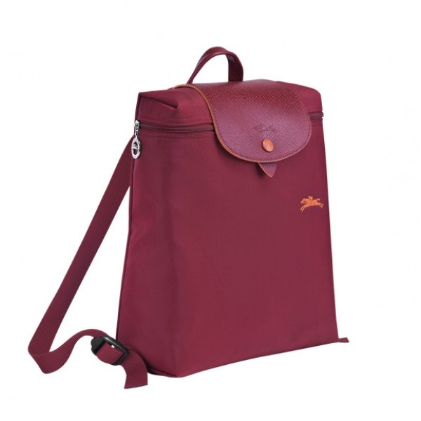 Garnet red cheap Longchamp Le Pliage Club Backpack with Pliage/Nylon  Material