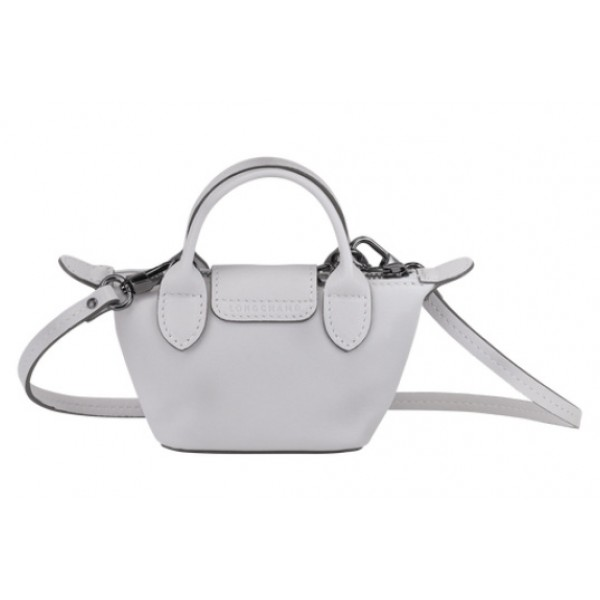 Grey sale Longchamp Le Pliage Cuir Crossbody bag XS with Leather Material