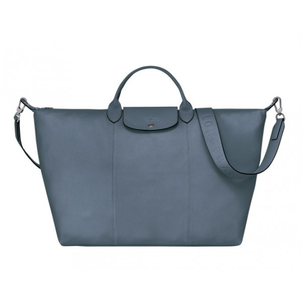 Nordic sale Longchamp Le Pliage Cuir Travel bag with Leather Material