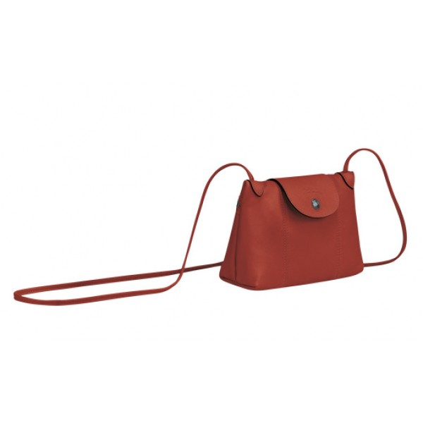 Sienna Sale Longchamp Le Pliage Cuir Crossbody Bag with Leather Material