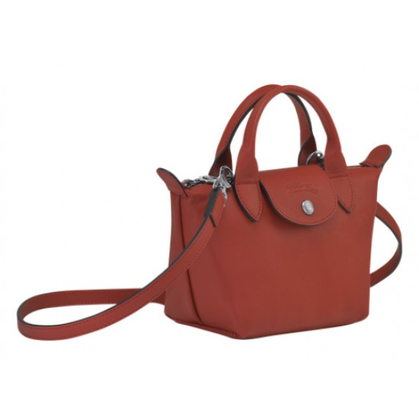 Sienna sale Longchamp Le Pliage Cuir Top Handle Bag with Leather ...