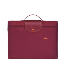 Garnet red cheap Longchamp Le Pliage Club Briefcase with Pliage/Nylon Material sale